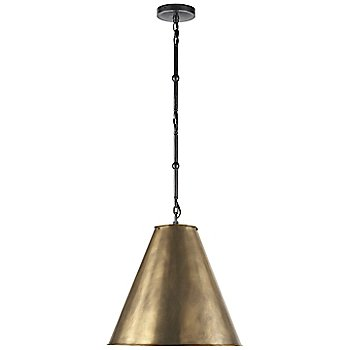 Shown in Hand-Rubbed Antique Brass with White Interior and Bronze finish, Small size