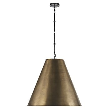 Shown in Hand-Rubbed Antique Brass with White Interior and Bronze finish, Large size