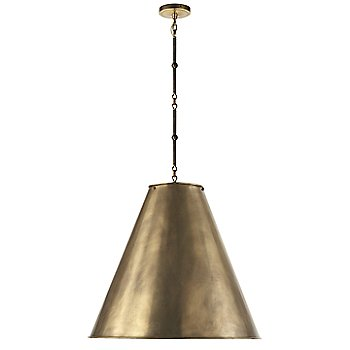 Shown in Hand-Rubbed Antique Brass with White Interior and Bronze/Hand-Rubbed Antique Brass finish, Large size