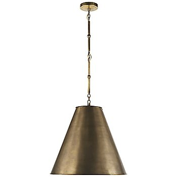 Shown in Hand-Rubbed Antique Brass with White Interior and Hand-Rubbed Antique Brass finish, Medium size