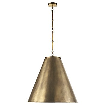 Shown in Hand-Rubbed Antique Brass with White Interior and Hand-Rubbed Antique Brass finish, Large size