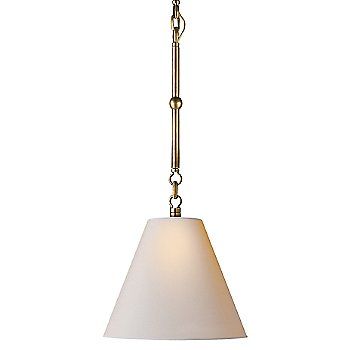 Shown in Natural Paper shade with Hand-Rubbed Antique Brass finish