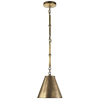 Shown in Hand-Rubbed Antique Brass with White Interior with Hand-Rubbed Antique Brass finish