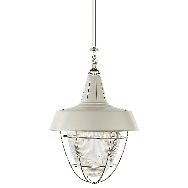 Henry Industrial Pendant with Prismatic Glass