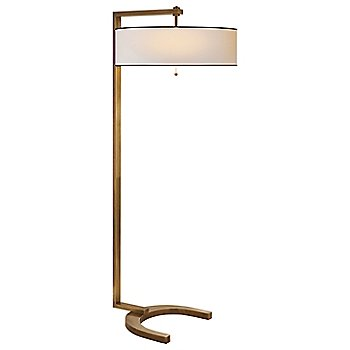 Shown in Hand-Rubbed Antique Brass/Natural Paper Shade