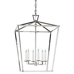 Darlana Lantern Pendant (Polished Nickel/Large) - OPEN BOX