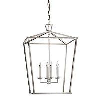 Darlana Lantern Pendant (Polished Nickel/Medium) - OPEN BOX