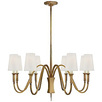 8 Light / Hand-Rubbed Antique Brass finish