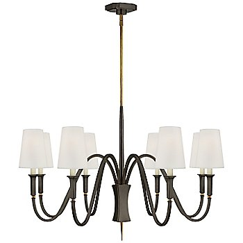 8 Light / Bronze with Antique Brass finish