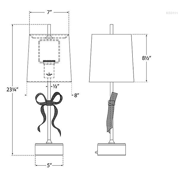 Ellery Gros-Grain Bow Table Lamp