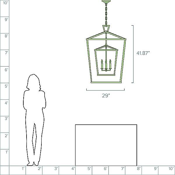 Darlana Double Cage Lantern Pendant Light