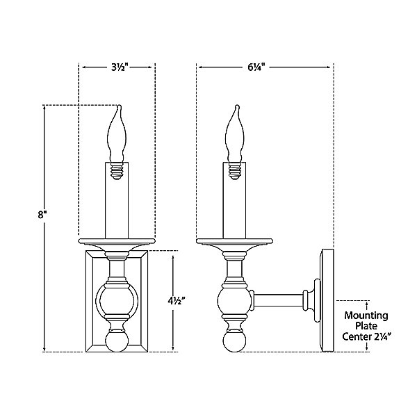 Library Classic Wall Sconce