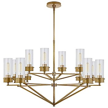 Clear with Hand-Rubbed Antique Brass finish