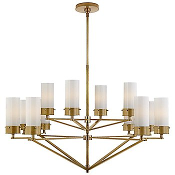 White with Hand-Rubbed Antique Brass finish