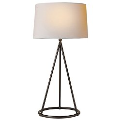 Nina Tapered Table Lamp (Aged Iron) - OPEN BOX RETURN
