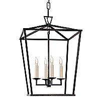 Darlana Lantern Pendant (Aged Iron/Large) - OPEN BOX RETURN