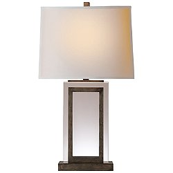Crystal Panel Table Lamp(Sheffield Nickel)-OPEN BOX RETURN