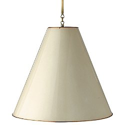 Goodman Pendant (White w/ Brass/L) - OPEN BOX RETURN