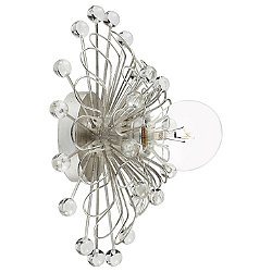 Keaton Floral Wall Sconce (Silver Leaf) - OPEN BOX RETURN