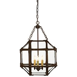 Morris Small Pendant (Clear/Antique Zinc) - OPEN BOX RETURN