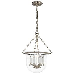Country Bell Jar Pendant (Polished Nickel/Small) - OPEN BOX