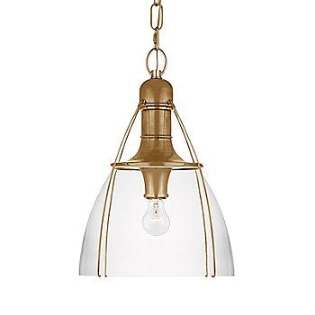 Clear Glass color / Antique Burnished Brass finish / Medium size