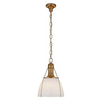 White Glass color / Antique Burnished Brass finish / Medium size