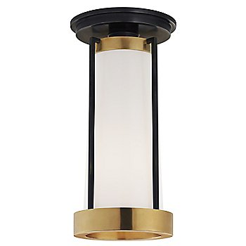 White Glass color / Bronze and Brass finish