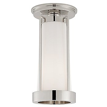 White Glass color / Polished Nickel finish