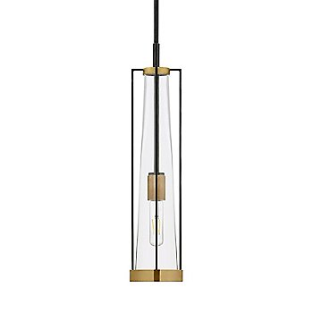Clear Glass color / Bronze with Brass finish