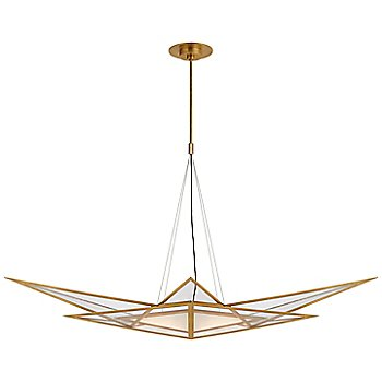 Antique Burnished Brass finish / 55 Inch