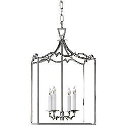 Darlana Fancy Lantern Pendant (Polished Nickel/Med)-OPEN BOX