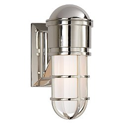 Marine Outdoor Wall Sconce (Polished Nickel)-OPEN BOX RETURN