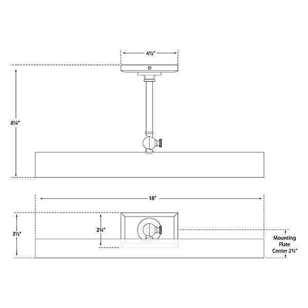 Cabinet Maker's 18-Inch Picture Light