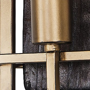 Madeira Double Wall Sconce, Detail view