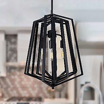 3 Light / Black finish / illuminated