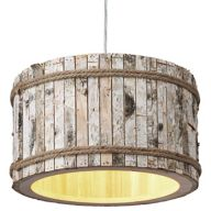 Wood Round Pendant Light