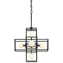 Plaza Six Light Pendant Light
