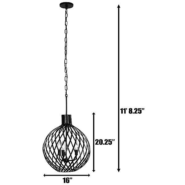 Bronwyn Three Light Pendant Light