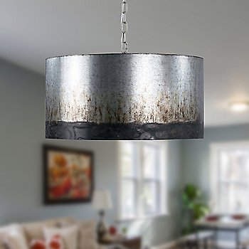 Cannery 4-Light Drum Pendant / in use