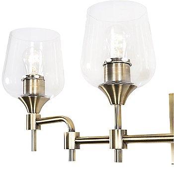 Antique Brass finish / 4 Light / Detail view