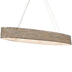 Flow 6 Light Linear Pendant Light