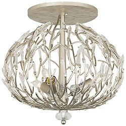 Bask 3 Light Semi-Flush Mount Ceiling Light