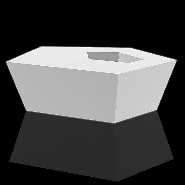 Faz Coffee Table - White Light