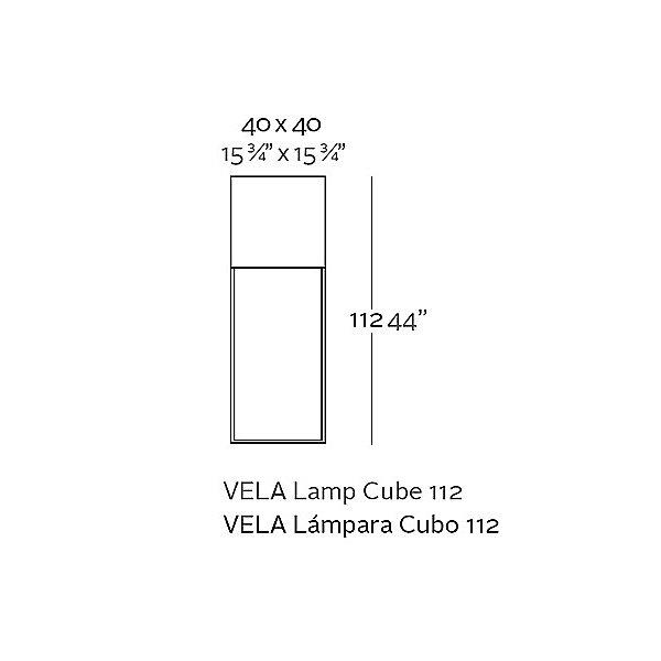 Vela RGB LED Cube Floor Lamp