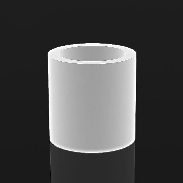 Cylinder Ice White Illuminated Planter