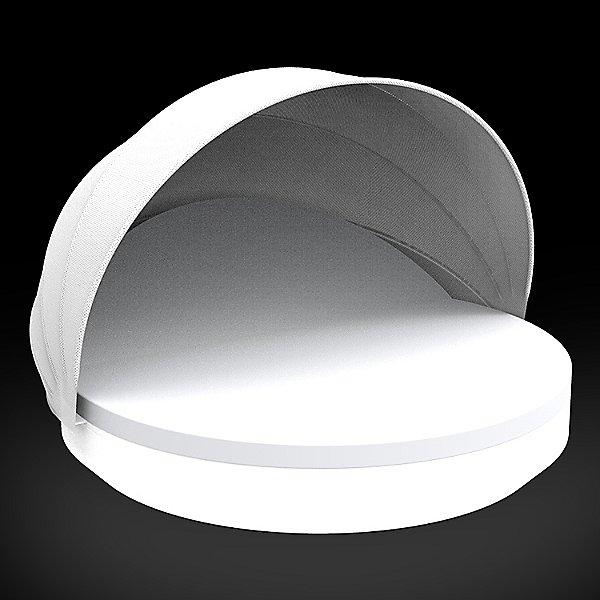 Vela Reclining Round Daybed with folding sunroof Illuminated