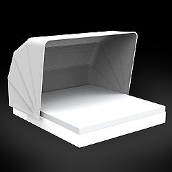 Vela Basic Square Daybed with folding sunroof Illuminated
