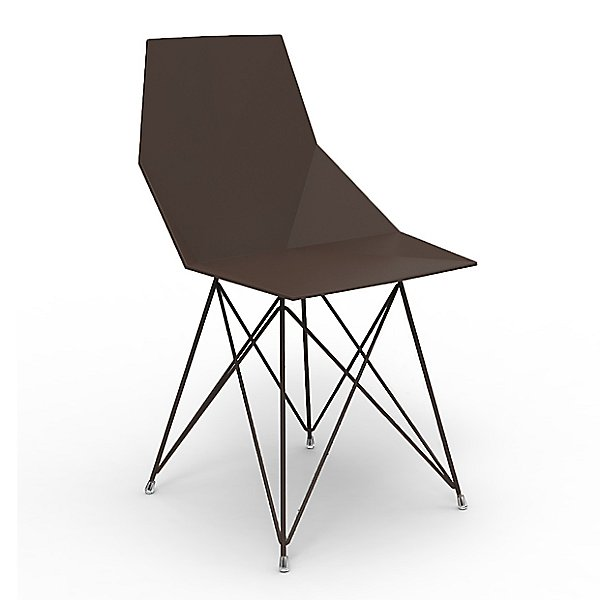 Faz Outdoor Side Chair with Steel Base Set of 4