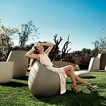 Stone Lounge Chair - Backyard